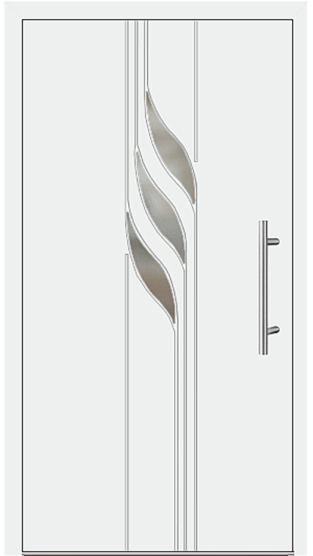 Kunststoff Haustür Modell 6934-40 weiß