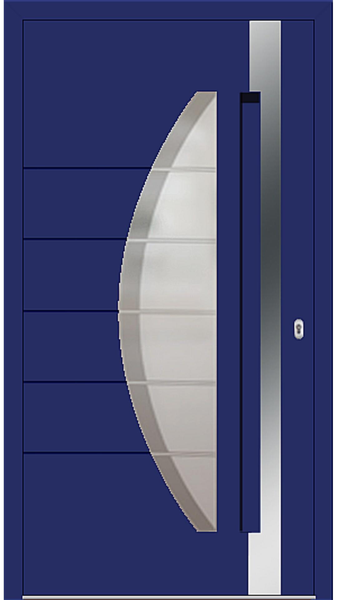 Kunststoff Haustür Modell 6973-40 ultramarinblau