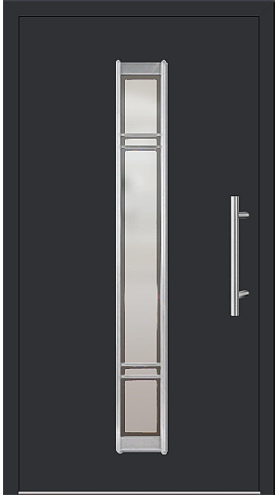 Kunststoff Haustür Modell 6977-79 schwarz