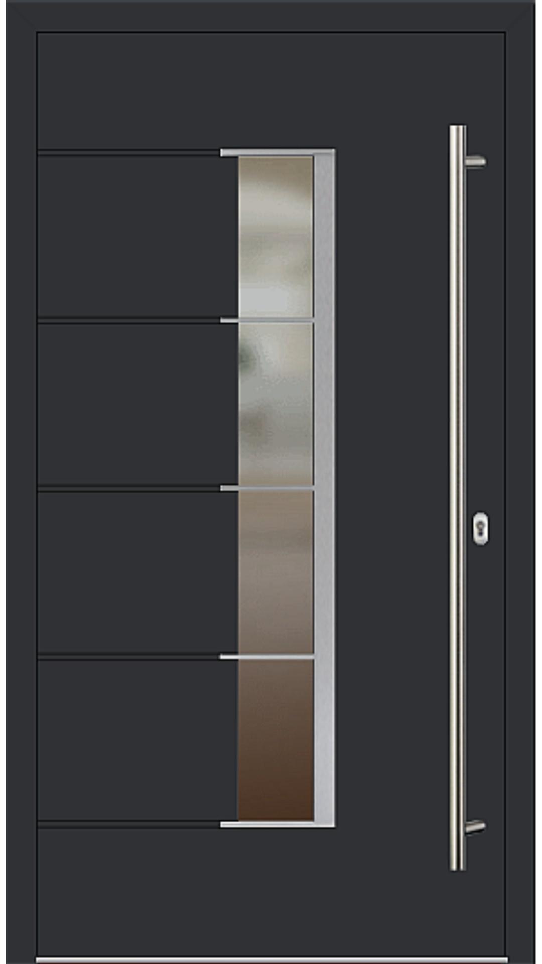 Kunststoff Haustür Modell 6978-79 schwarz