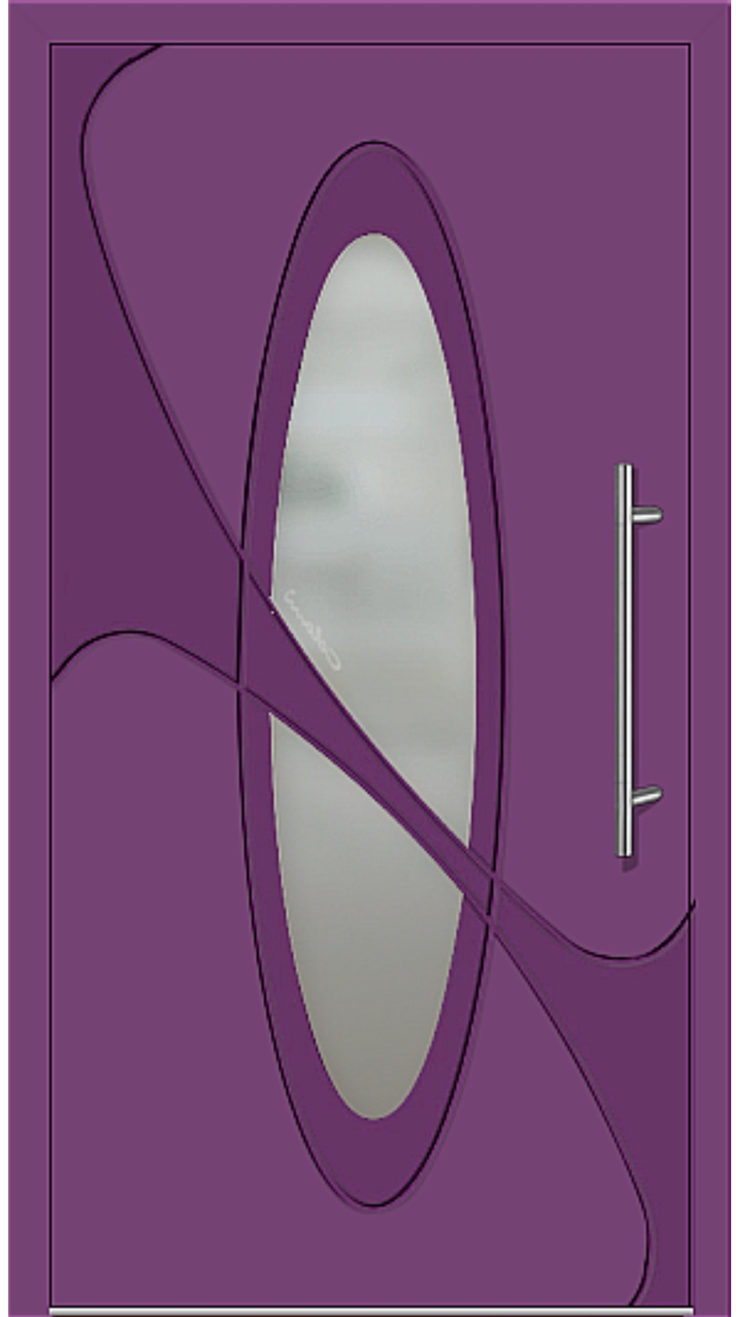 Kunststoff Haustür Modell 6990-41 singalviolett