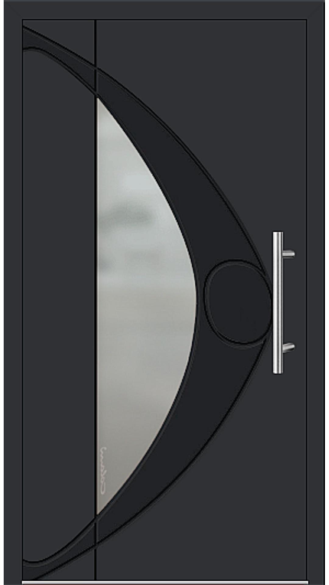 Kunststoff Haustür Modell 6993-41 schwarz
