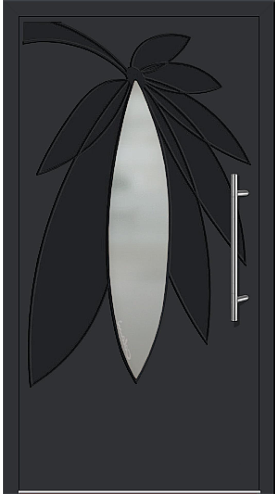 Kunststoff Haustür Modell 6996-41 schwarz