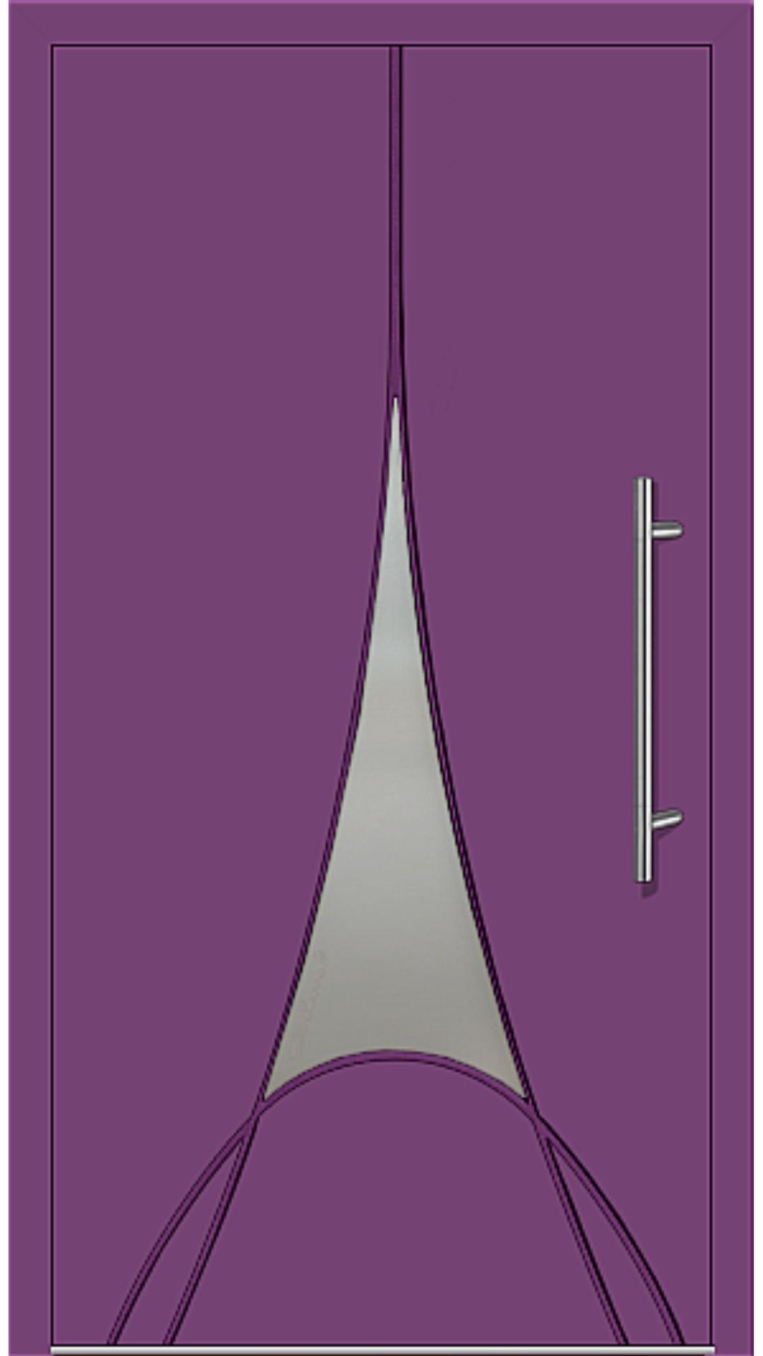 Kunststoff Haustür Modell 6997-41 singalviolett