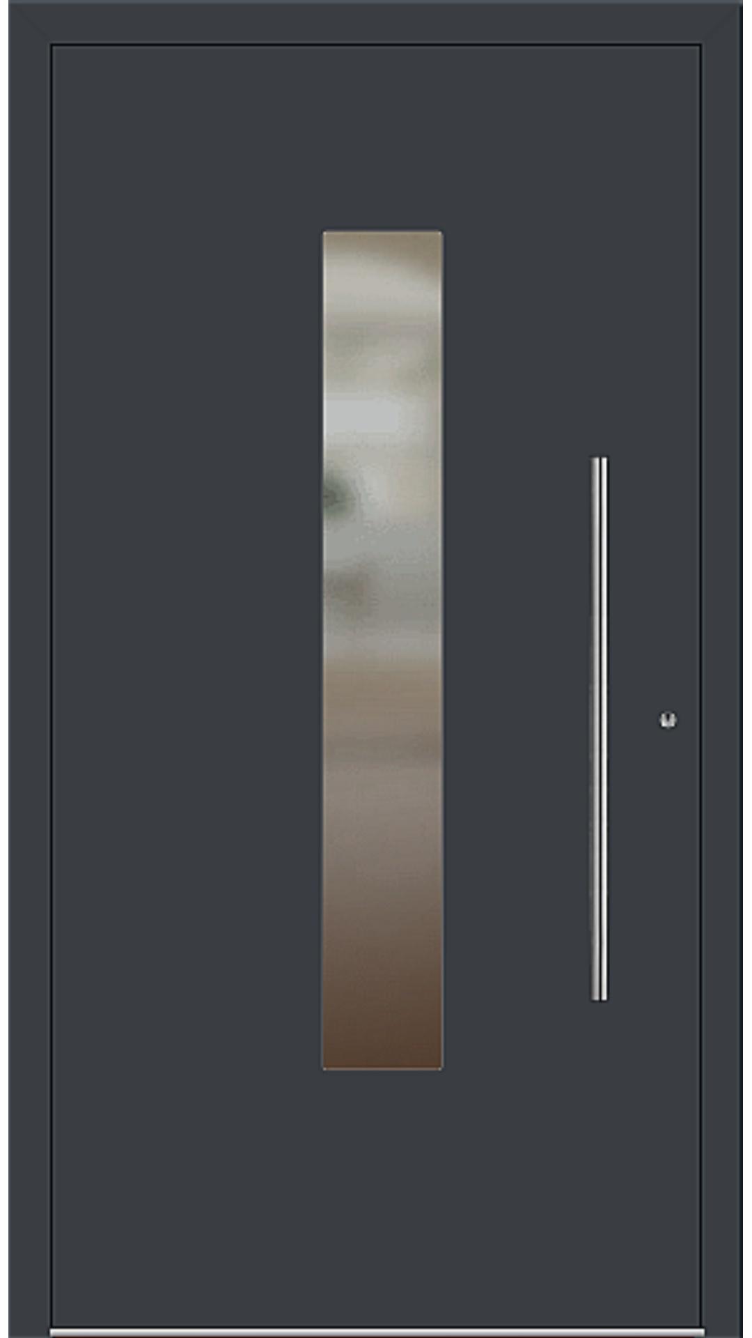 PaXentrée Aluminium Haustür M01210 anthrazitgrau
