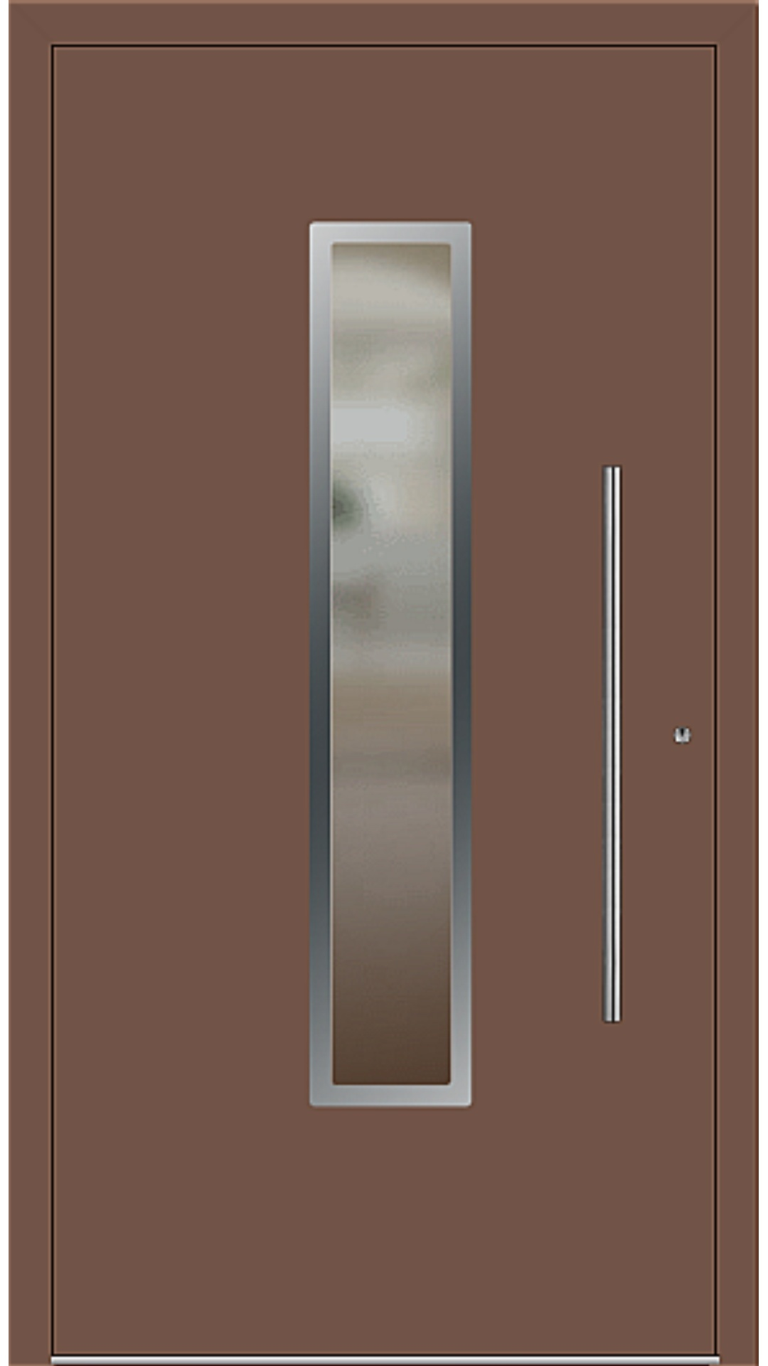 PaXentrée Aluminium Haustür M01211 lehmbraun