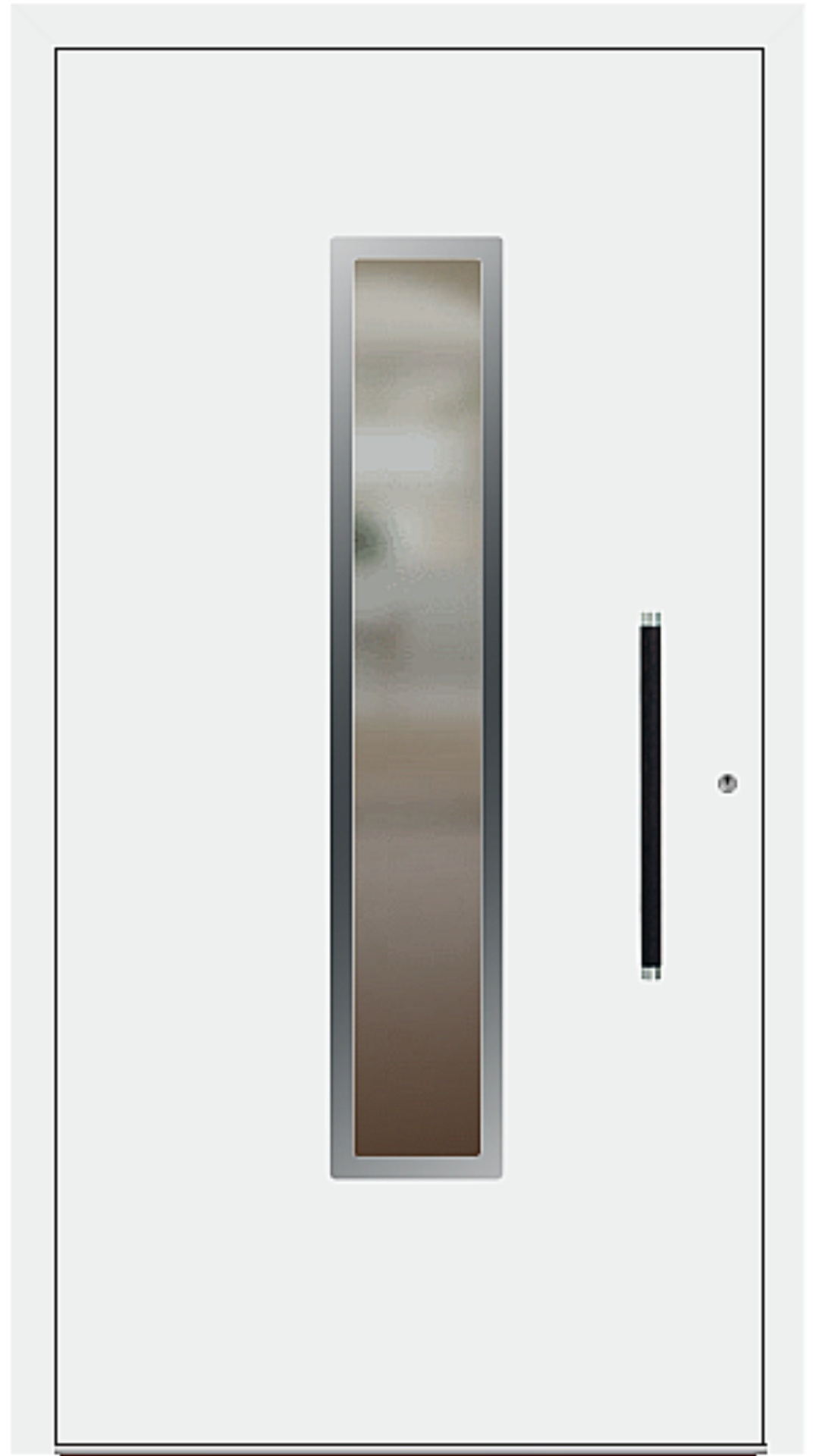 PaXentree Aluminium Haustür M01211 verkehrsweiß