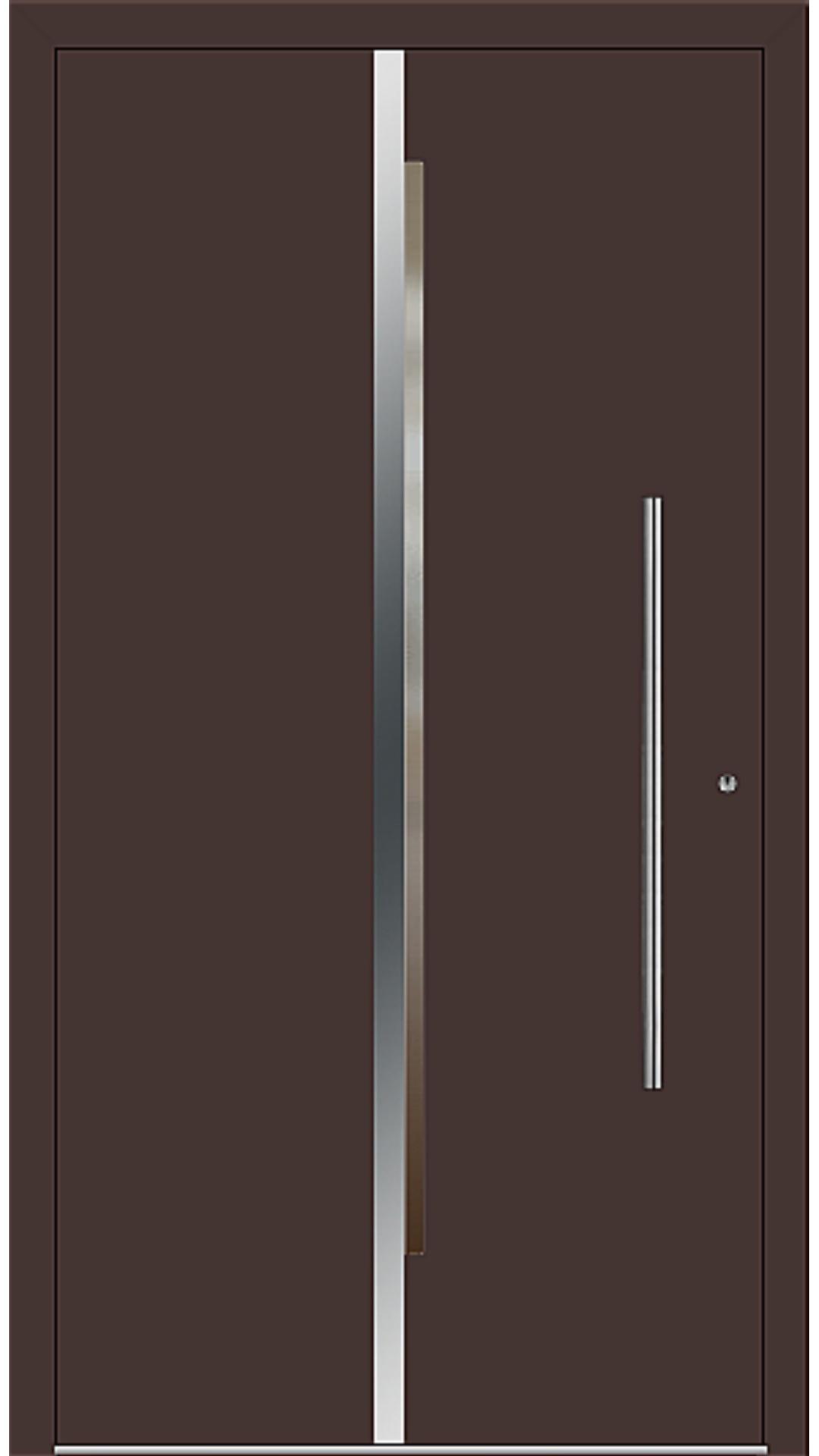 PaXentrée Aluminium Haustür M02201 mahagonibraun