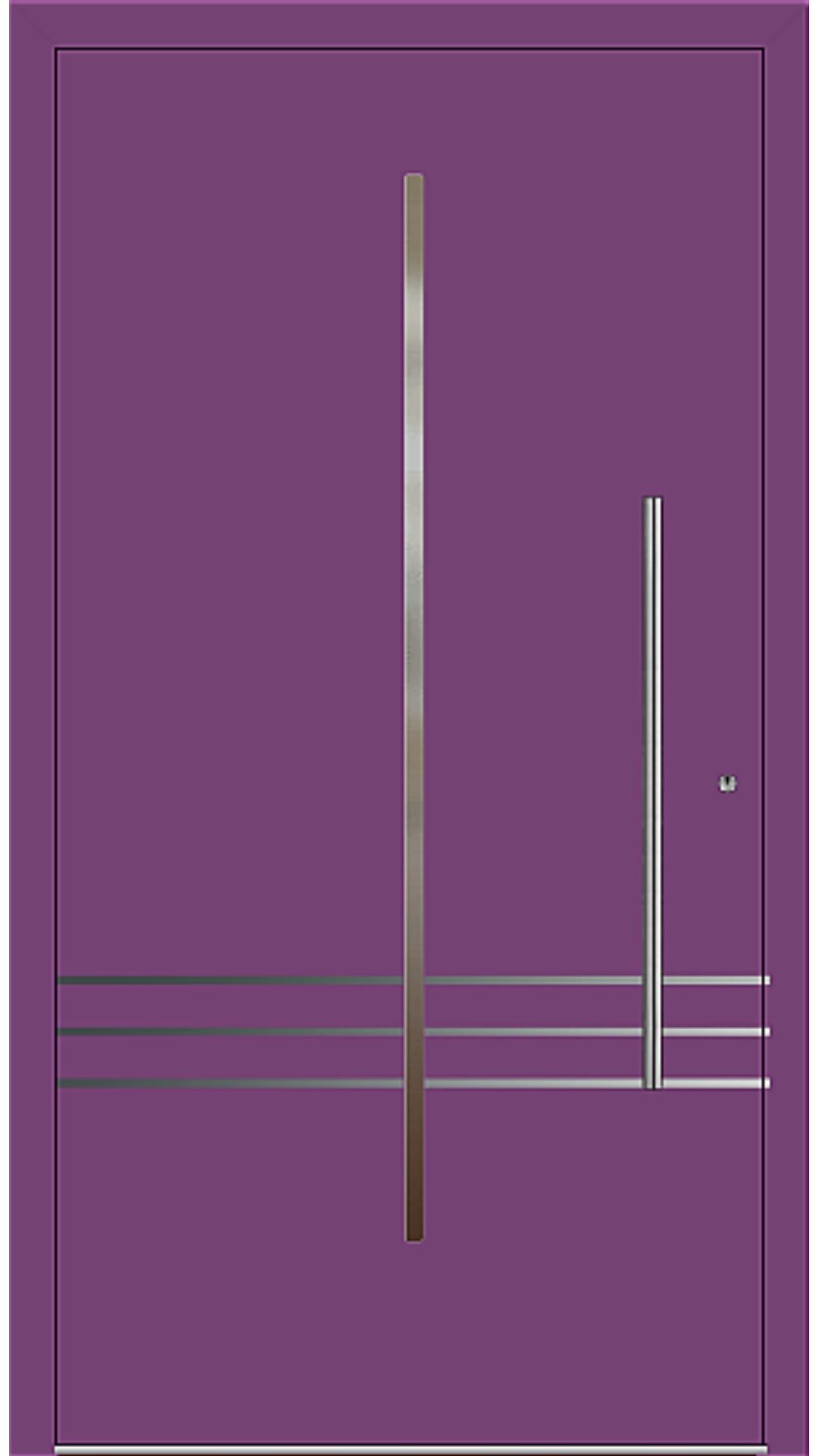 PaXentrée Aluminium Haustür M02231 singalviolett