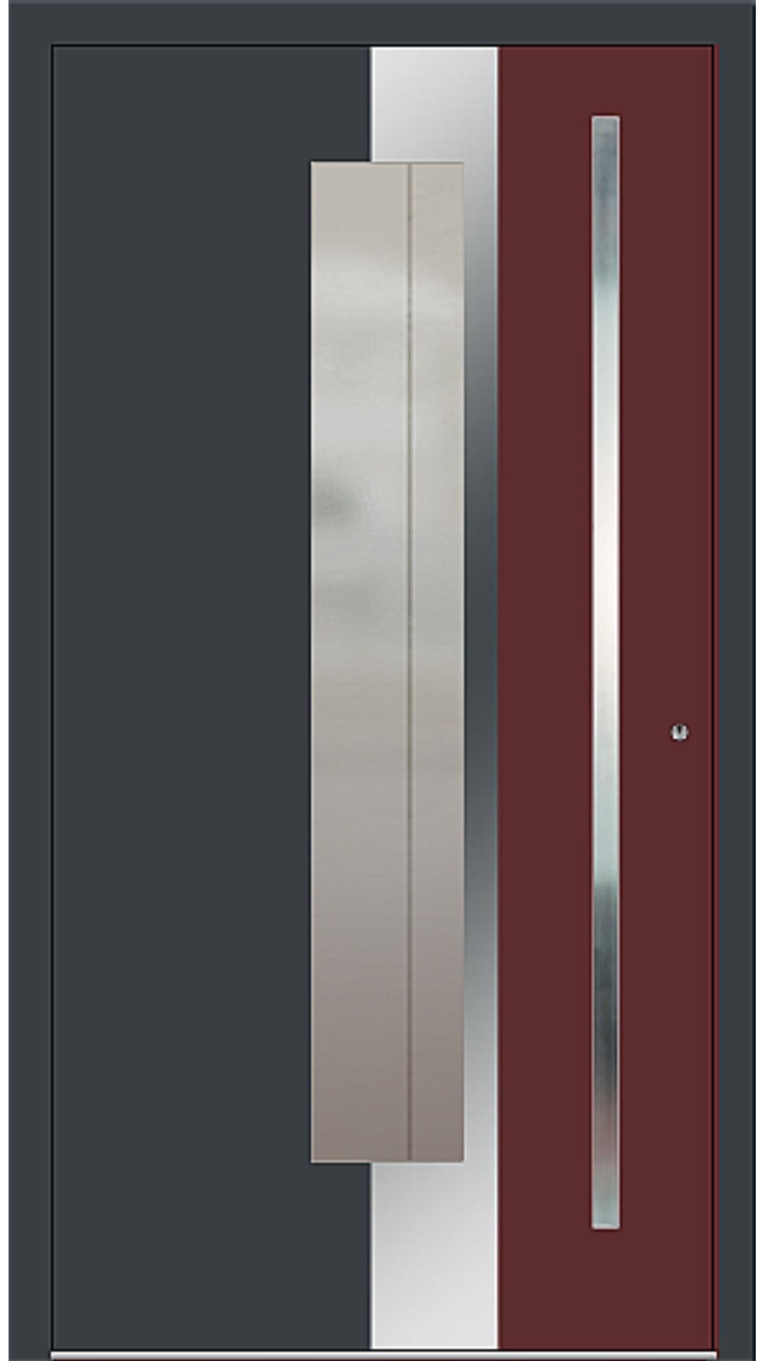 PaXentree Aluminium Haustür M02245 anthrazitgrau, purpurrot
