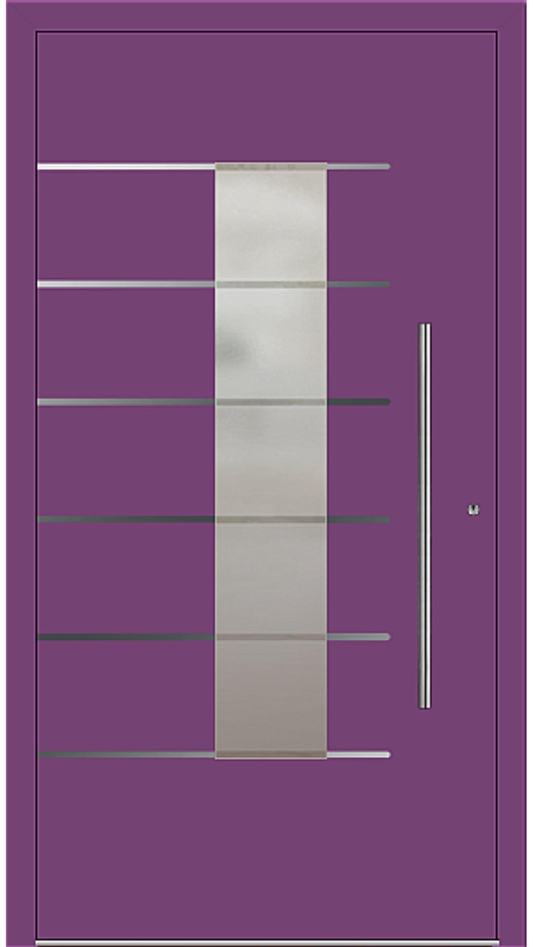 PaXentrée Aluminium Haustür M02501 singalviolett