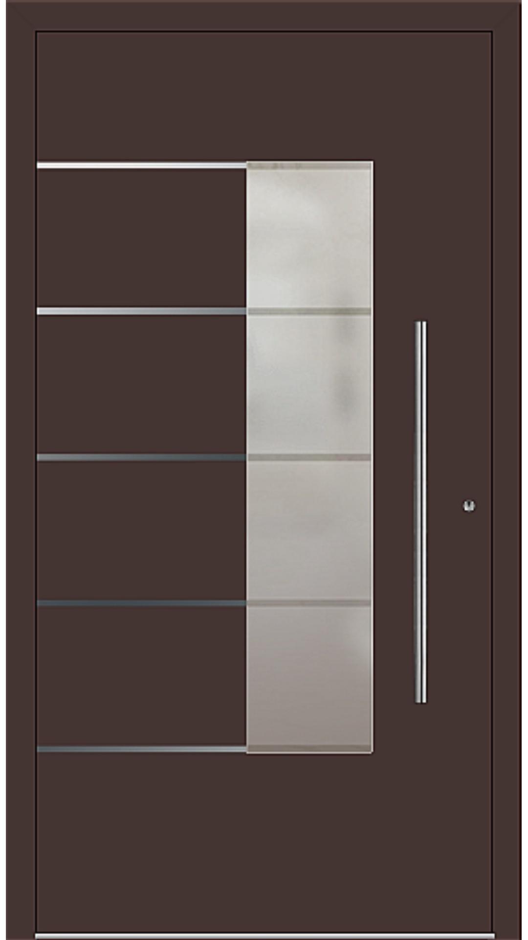 PaXentrée Aluminium Haustür M02551 mahagonibraun