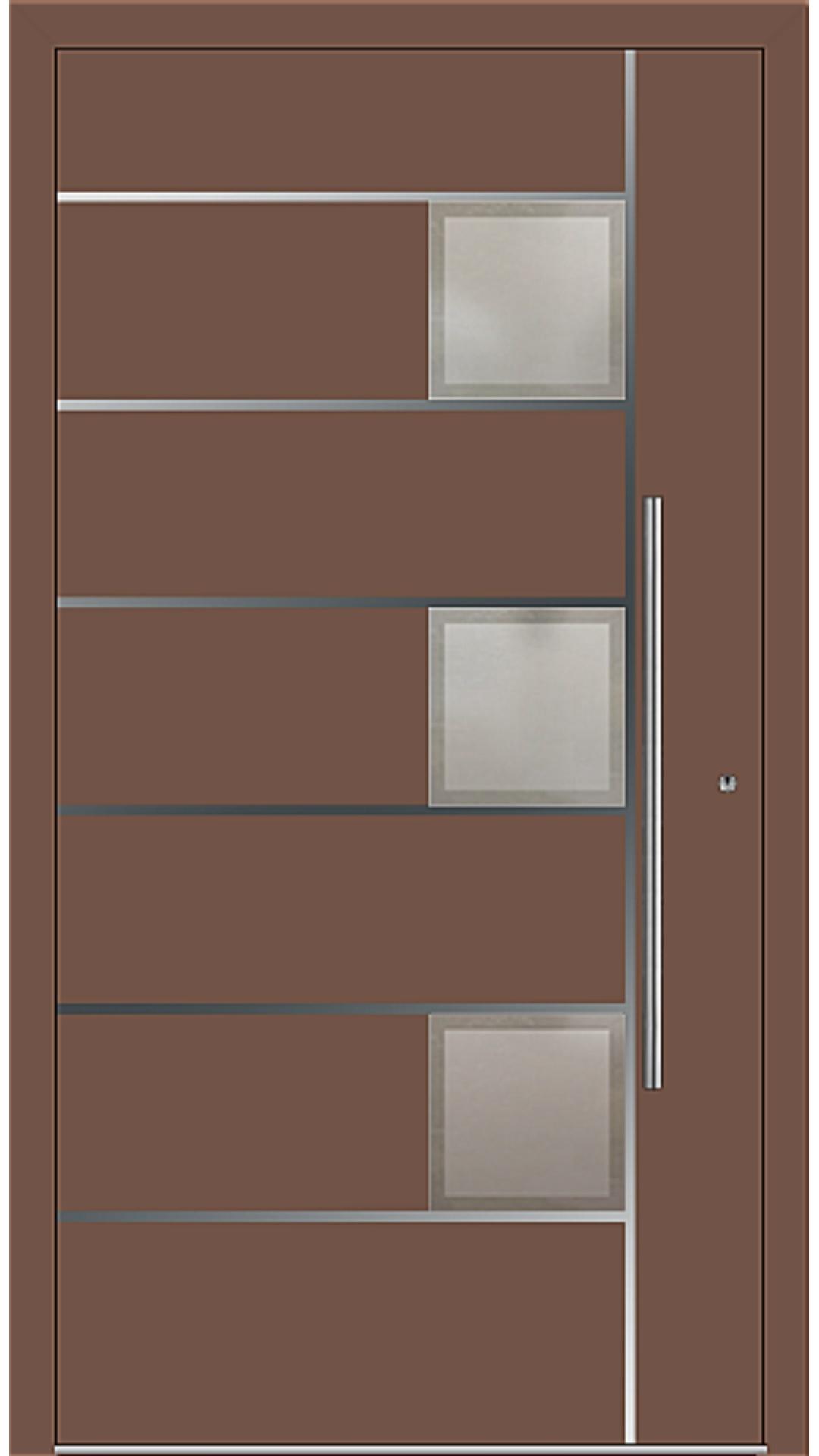 PaXentrée Aluminium Haustür M04341 lehmbraun