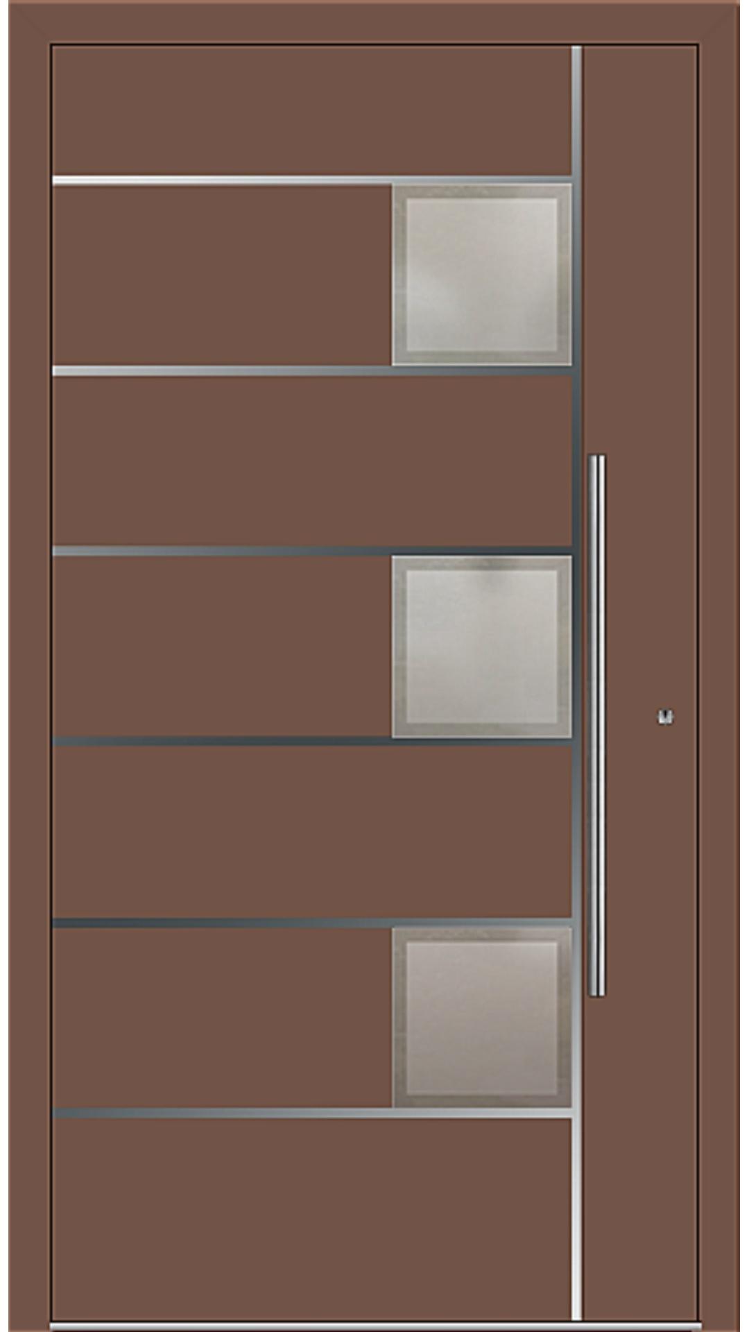 PaXentrée Aluminium Haustür M04342 lehmbraun