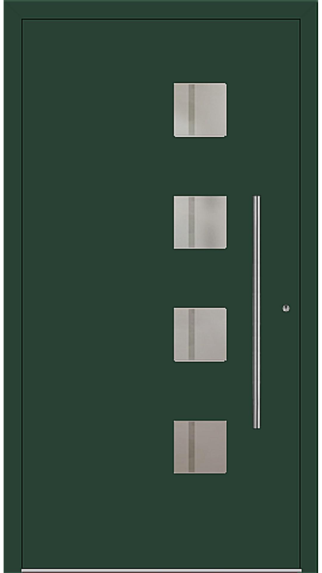 PaXentree Aluminium Haustür M04420 moosgrün