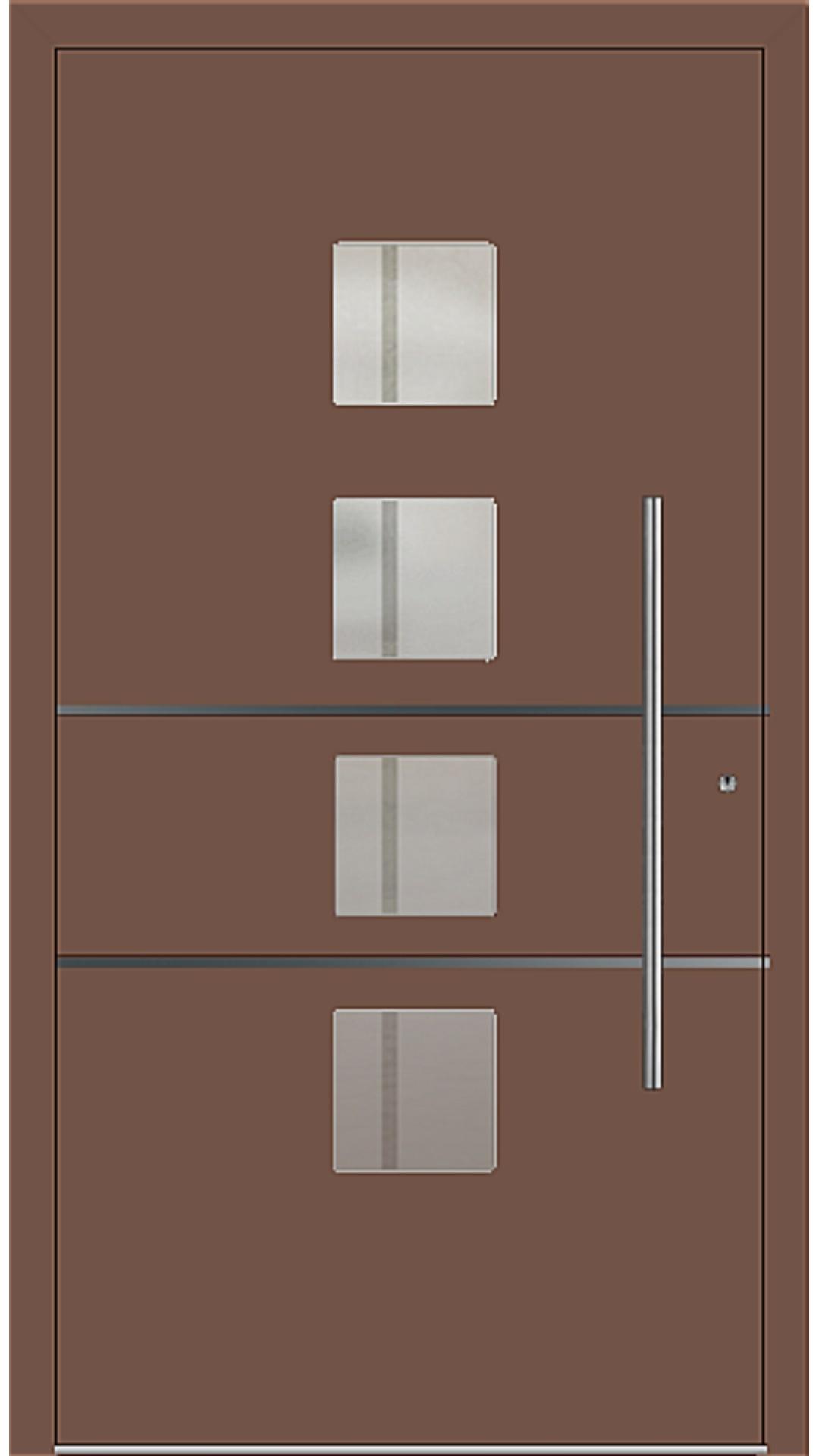 PaXentrée Aluminium Haustür M04450 lehmbraun