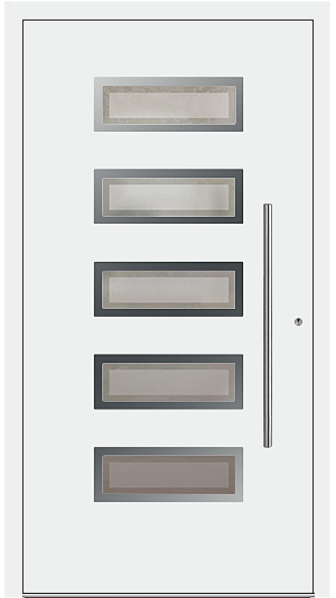 PaXentrée Aluminium Haustür M05501 weiß