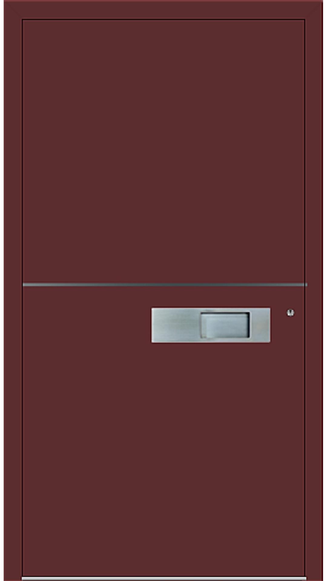 PaXentree Aluminium Haustür M06101 purpurrot