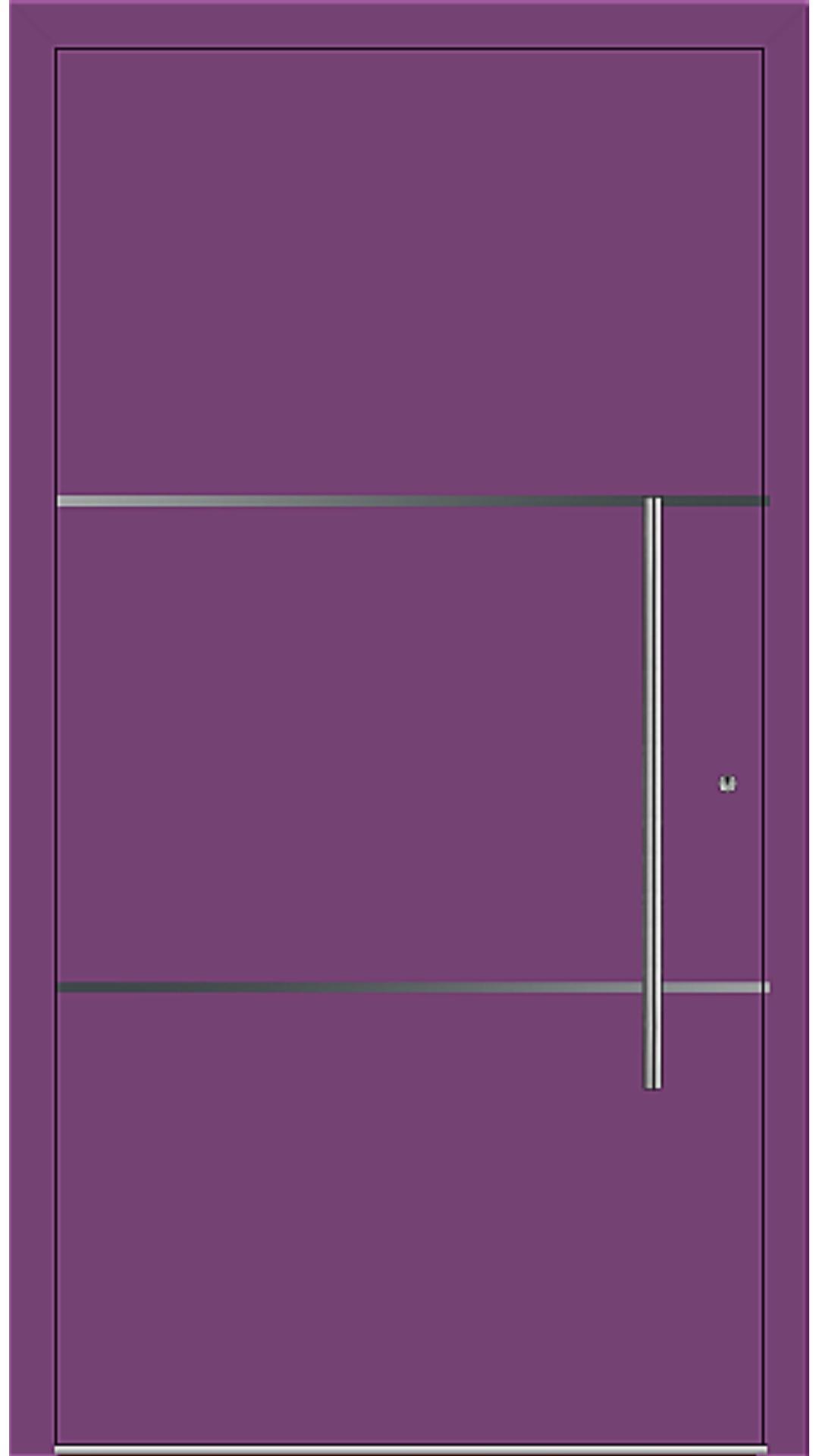 PaXentrée Aluminium Haustür M06201 singalviolett