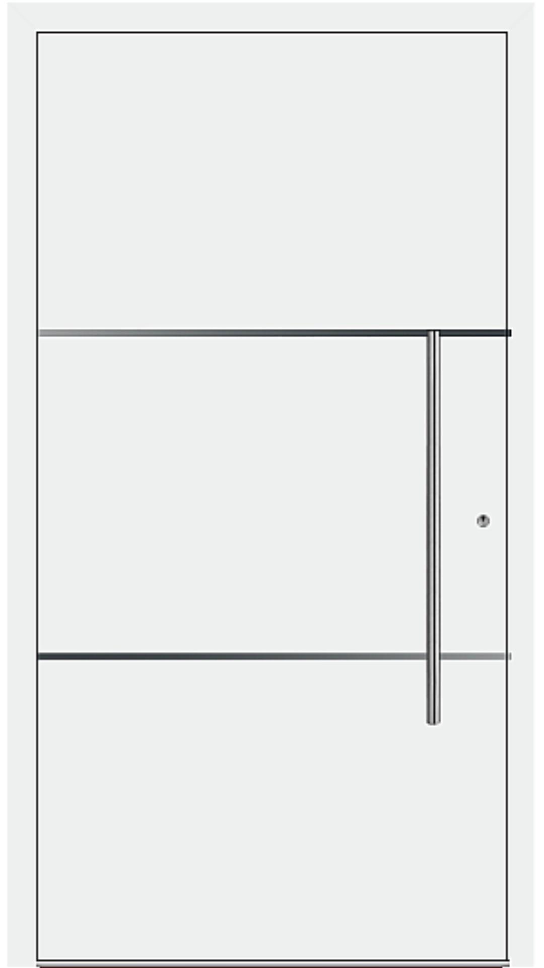PaXentrée Aluminium Haustür M06201 weiß