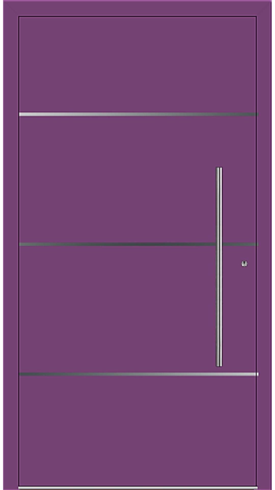 PaXentrée Aluminium Haustür M06301 singalviolett