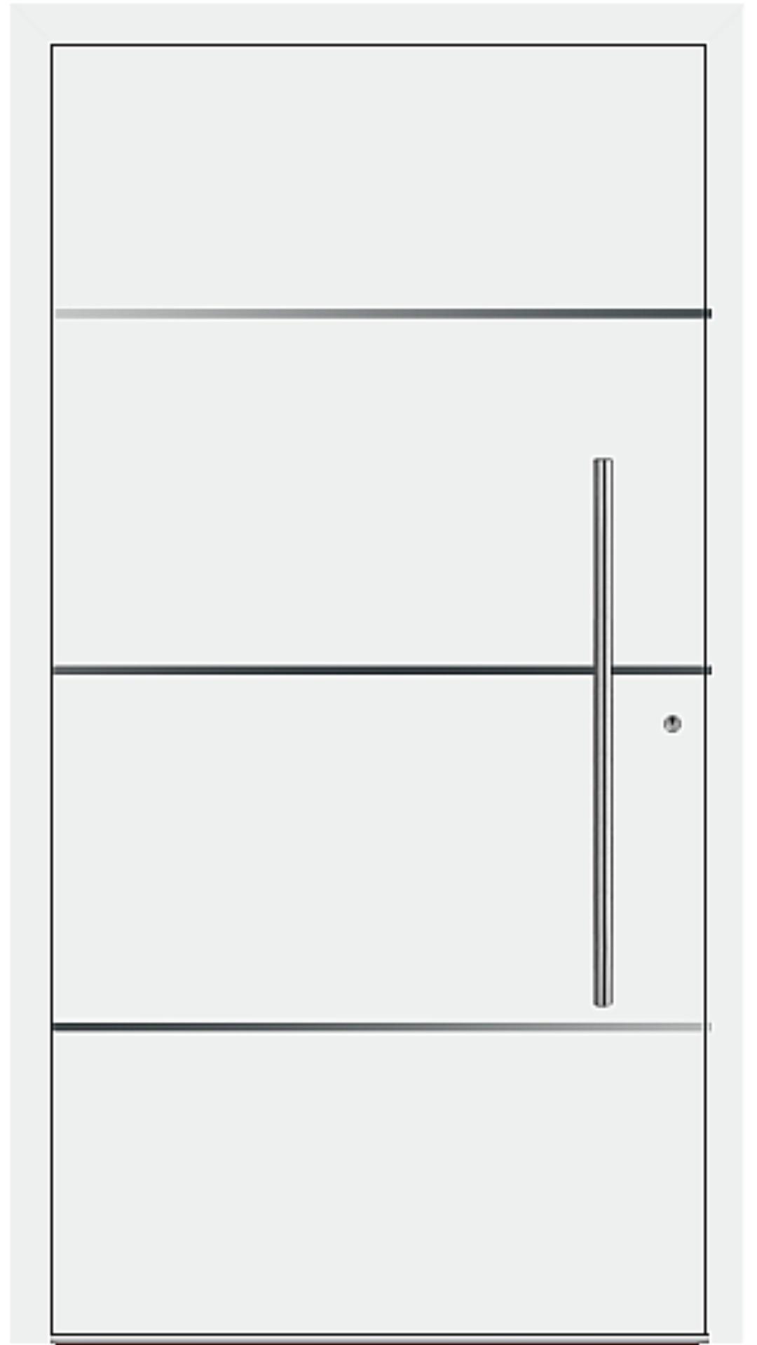 PaXentrée Aluminium Haustür M06301 weiß