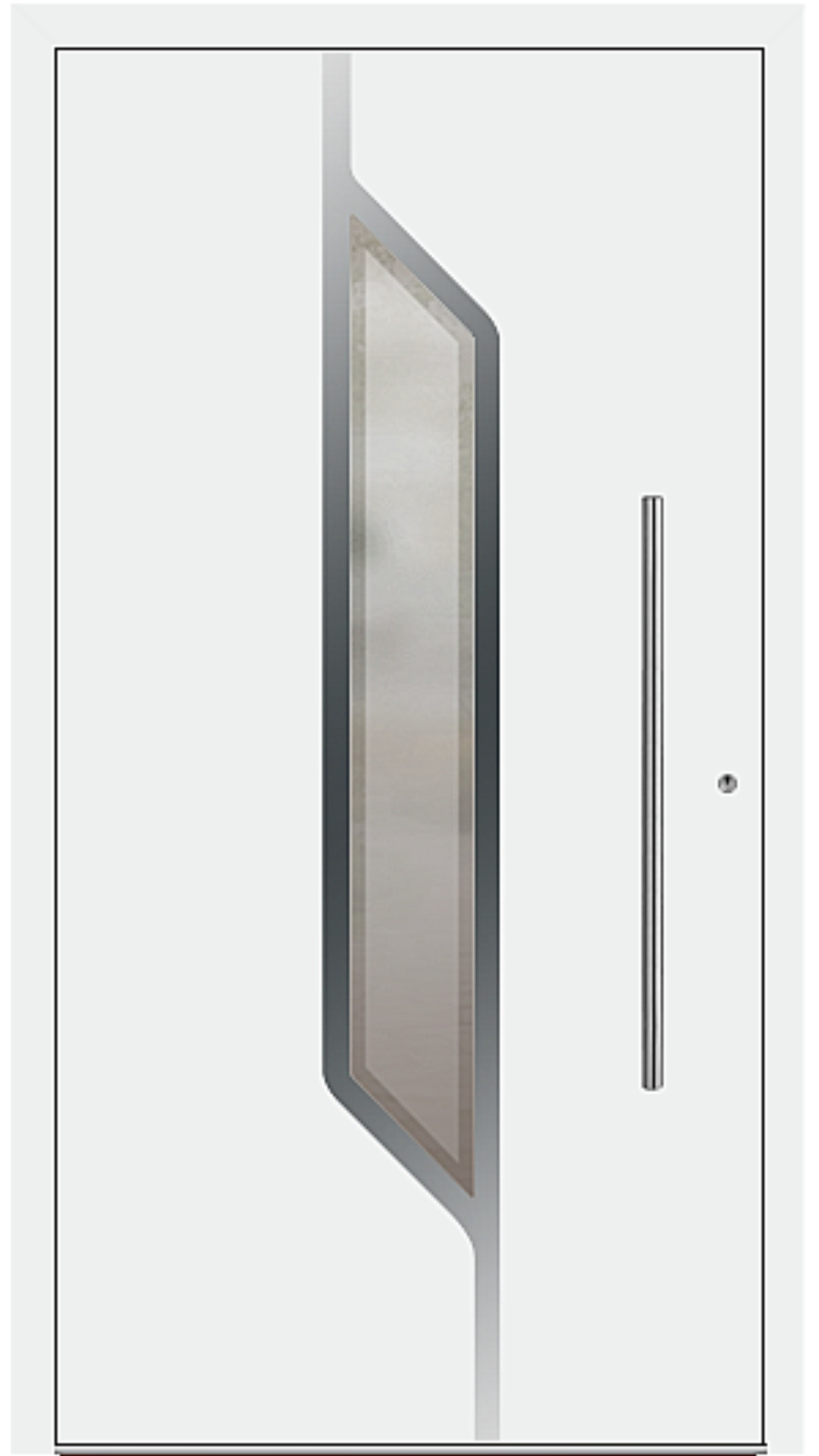 PaXentrée Aluminium Haustür M07120 weiß
