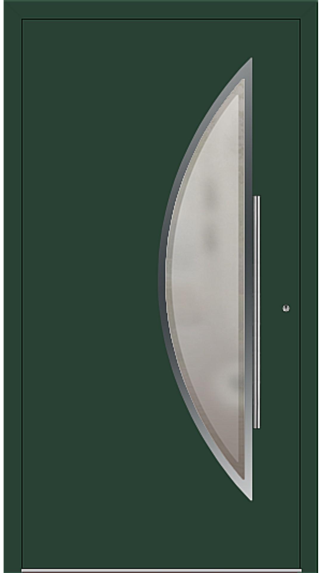 PaXentrée Aluminium Haustür M09171 moosgrün