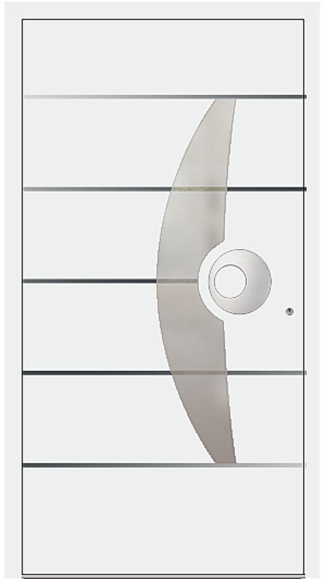 PaXentree Aluminium Haustür M09511 verkehrsweiß