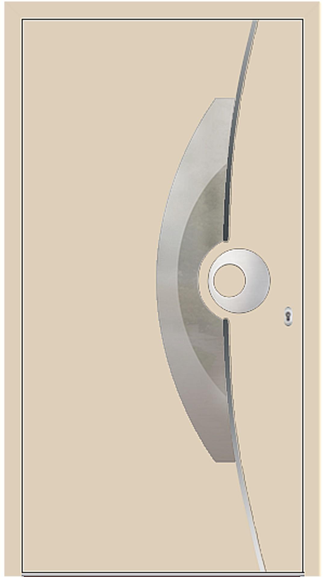 PaXentrée Aluminium Haustür M09521 beige