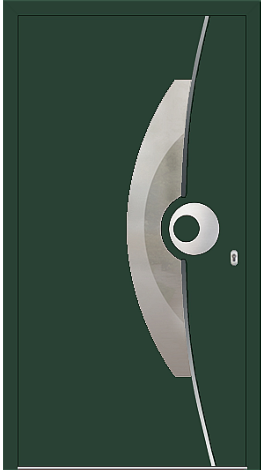 PaXentrée Aluminium Haustür M09521 moosgrün