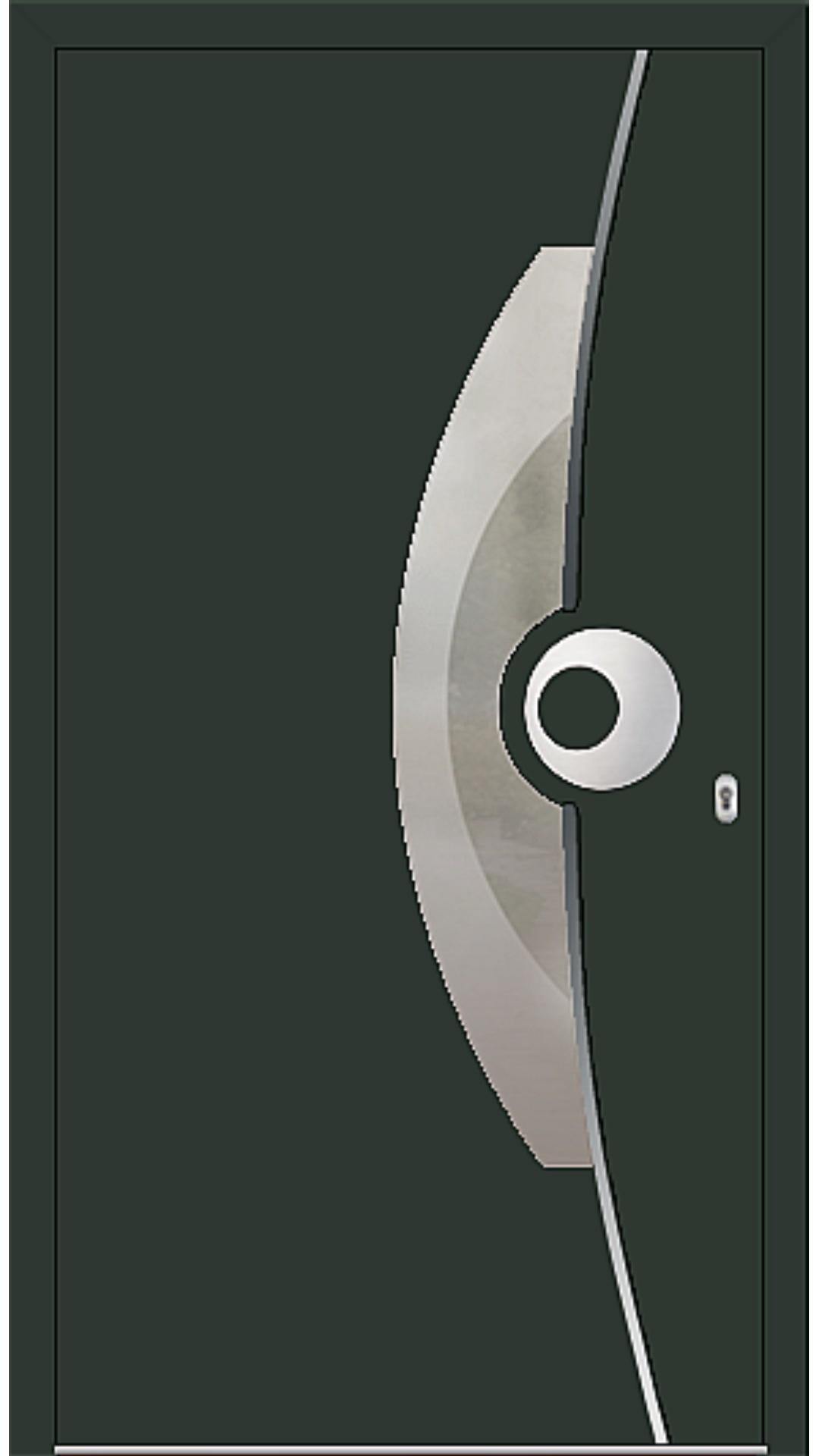 PaXentrée Aluminium Haustür M09521 tannengrün