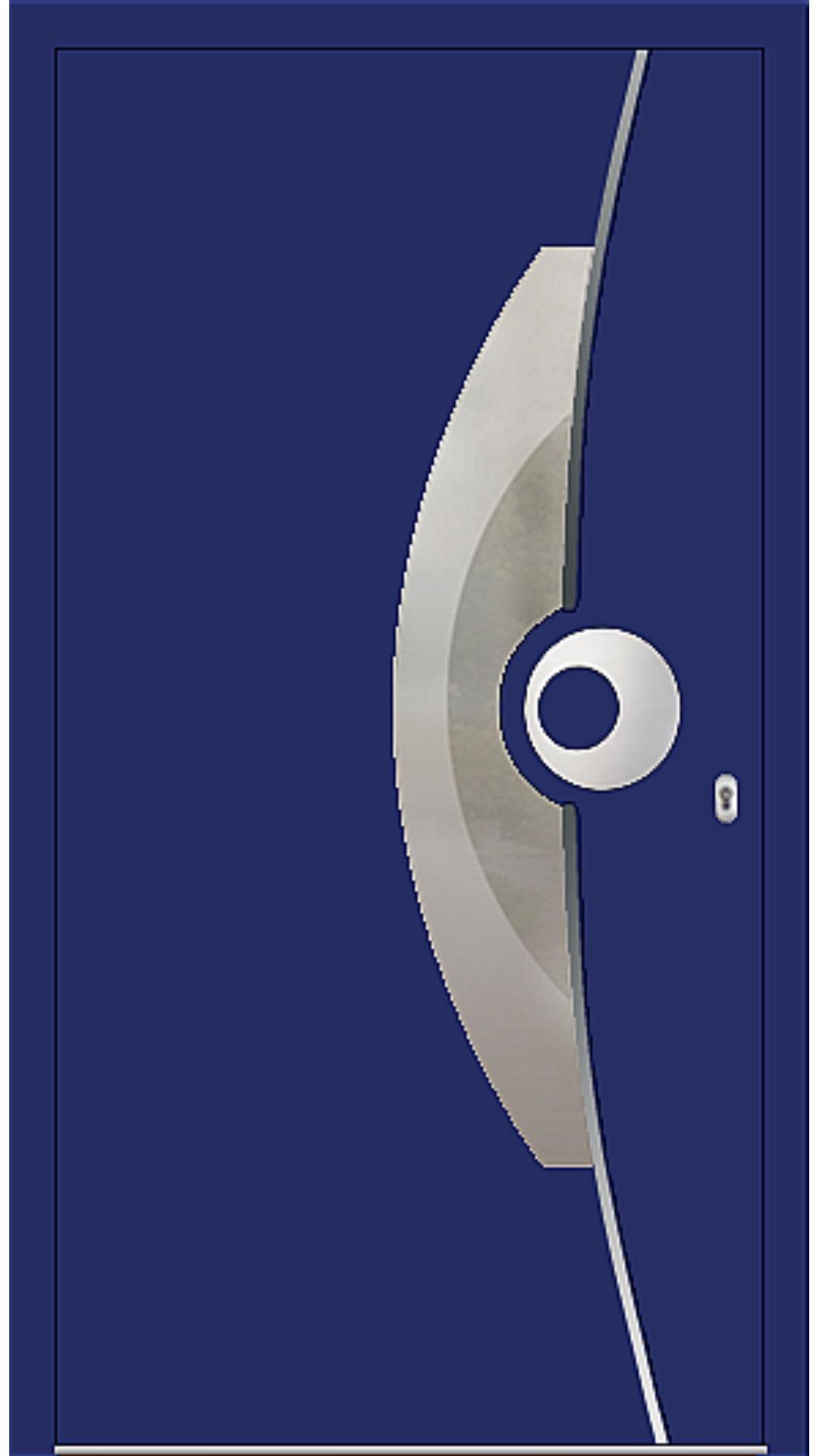 PaXentrée Aluminium Haustür M09521 ultramarinblau