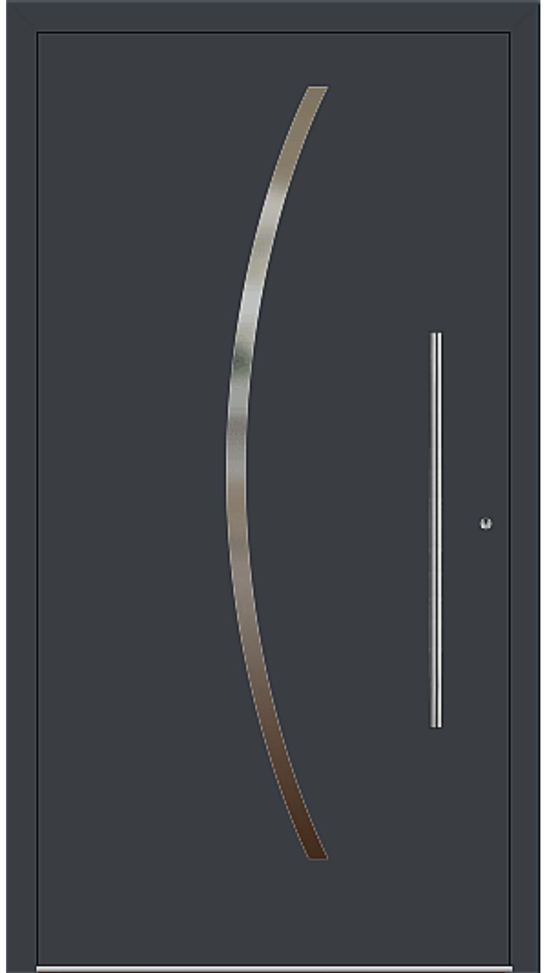 PaXentree Aluminium Haustür M10101 anthrazitgrau