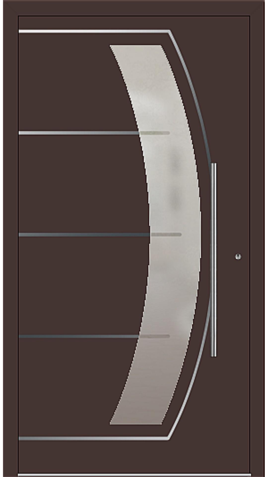 PaXentrée Aluminium Haustür M10201 mahagonibraun