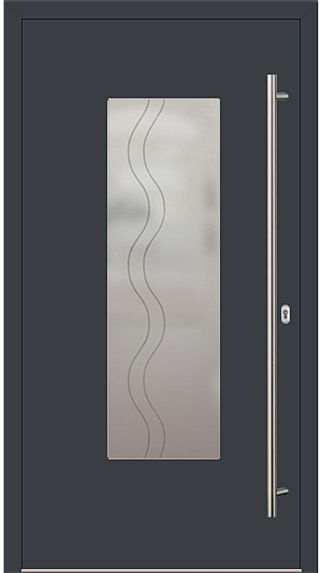 PaXentree Aluminium Haustür M01220 anthrazitgrau